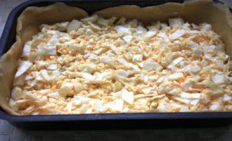Капустный пирог из песочного теста