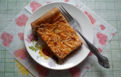 Домашняя пицца с копчёным сыром