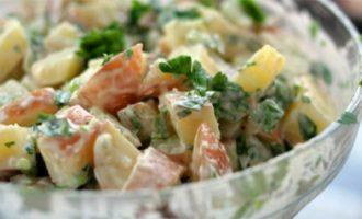 Лёгкий картофельный салат