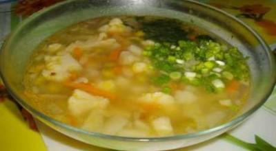 Суп с курицей. Римская кухня