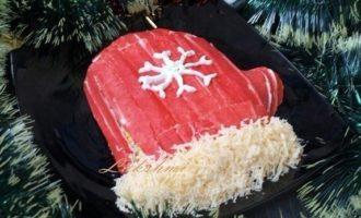 """Салат """"Варежка Деда Мороза"""""""
